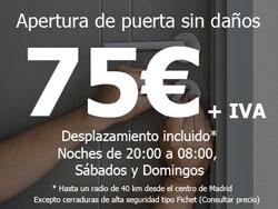 Oferta Cerrajero Madrid Lunes a Viernes horario laboral